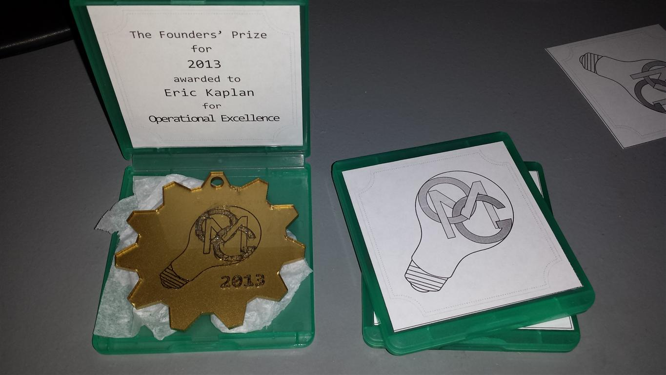 Founders' Prize 2013